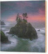 The Oregon Coast Sunset Wood Print
