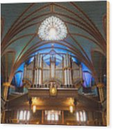 The Organ Inside The Notre Dame In Montreal Wood Print