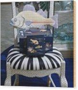 The Original Fish Chair  Wood Print