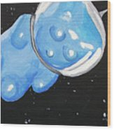 The Original Gummy Bear In Space Wood Print by Jera Sky