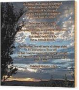 The Original Serenity Prayer Wood Print by Glenn McCarthy Art and Photography