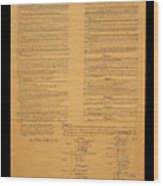 The Original United States Constitution Wood Print