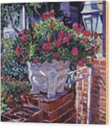 The Ornamental Floral Gate Wood Print