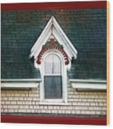 The Ornamented Gable Wood Print