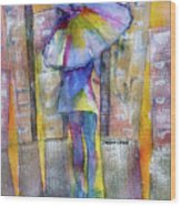 The Other Girl In The City Wood Print