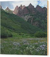 The Other Side Of Maroon Bells 1 Wood Print