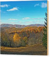 The Other Side Of The Road In Wv Wood Print