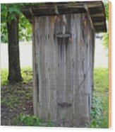 The Outhouse Wood Print