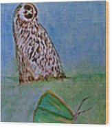 The Owl And The Butterfly Wood Print