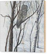 The Owl Wood Print