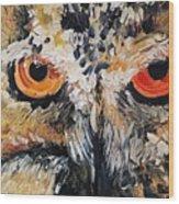 The Owl Of Lakshmi Textured Painting_0476 Wood Print