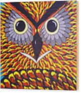 The Owl Stare Wood Print