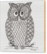 The Owl's Who Wood Print by Paula Dickerhoff