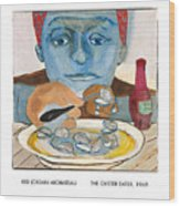 The Oyster Eater Wood Print