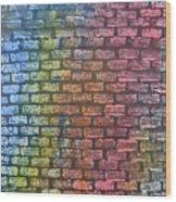 The Painted Brick Wall  Wood Print