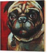 The Painted Pug Wood Print