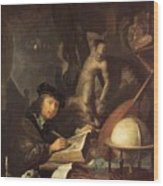 The Painter In His Workshop 1647 Wood Print