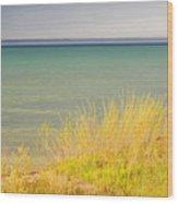weather ,storm,weather ,clouds ,cloudy ,blue ,skies ,water, marine,beach, marine, cottage, Michigan, Wood Print