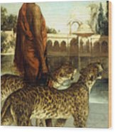The Palace Guard With Two Leopards Wood Print