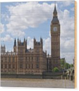 The Palace Of Westminster Wood Print
