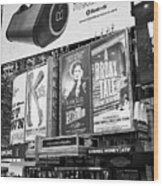 the Palace theatre Times Square New York City USA Wood Print
