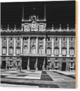 The Palacio Real, Madrid  Wood Print