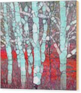 The Pale Trees Of Winter Wood Print
