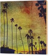 The Palms Wood Print
