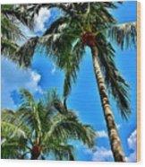 The Palms Wood Print