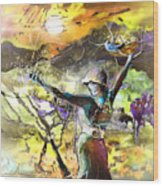 The Parable Of The Sower Wood Print by Miki De Goodaboom