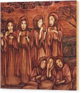 The Parable Of The Ten Virgins Wood Print