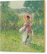 The Parasol Wood Print