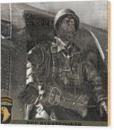 The Paratrooper Wood Print
