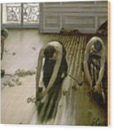 The Parquet Planers - Gustave Caillebotte Wood Print