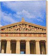 The Parthenon In Nashville Tennessee  Wood Print