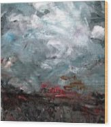 The Passing Storm Wood Print