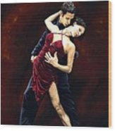 The Passion Of Tango Wood Print