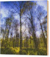 The Pastel Forest Wood Print