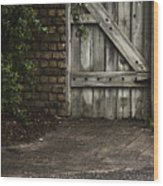 The Path To The Doorway Wood Print