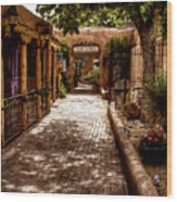 The Patio Market Wood Print by David Patterson