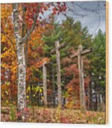 The Peace That Passes All Understanding Wood Print by Debra and Dave Vanderlaan