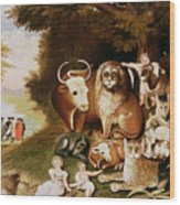 The Peaceable Kingdom Wood Print by Edward Hicks
