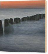 The Peaceful Sea Wood Print