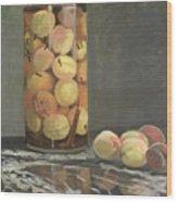 The Peach Glass Wood Print