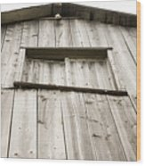 The Peak Of The Amana Farmer's Market Barn Wood Print