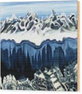 The Peaks  Wood Print
