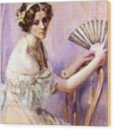 The Pearl Fan Wood Print