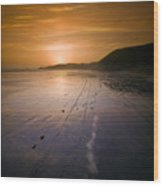 The Pembrokeshire Sunset Wood Print