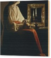 The Penitent Magdalen, Georges De La Tour Wood Print
