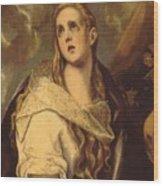 The Penitent Magdalene 1578 Wood Print